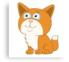 Adorable cartoon cat Canvas Print