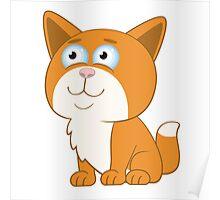 Adorable cartoon cat Poster
