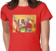 Thanksgiving (prints & cards w/words - all other items w/no words) Womens Fitted T-Shirt