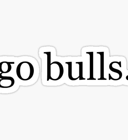 go bulls Sticker