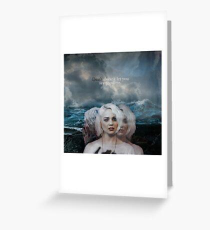 Sense 8 - Riley Blue Greeting Card