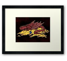 Smaug's treasure Framed Print
