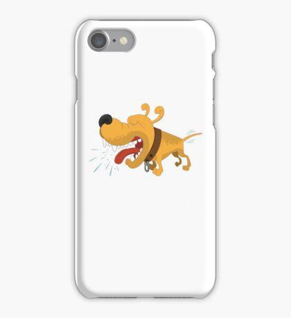 Barking funny cartoon dog iPhone Case/Skin