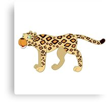 Funny cartoon cheetah Canvas Print