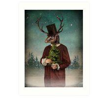 Mr Reindeer Art Print