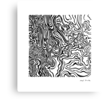 LINE : Optical Zoom Canvas Print