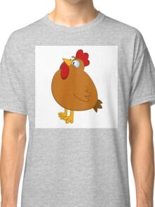 Funny cartoon chicken Classic T-Shirt