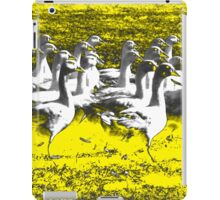 Marching Geese - Yellow iPad Case/Skin