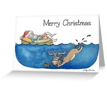 Christmas Australian Santa Greeting Card