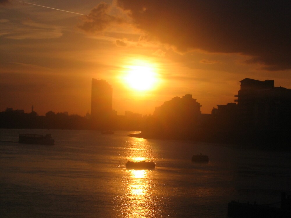 london by sunset by ollie234
