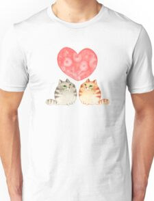 Cats in love Unisex T-Shirt