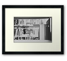 Jane Austen Library Framed Print