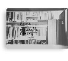 Jane Austen Library Metal Print