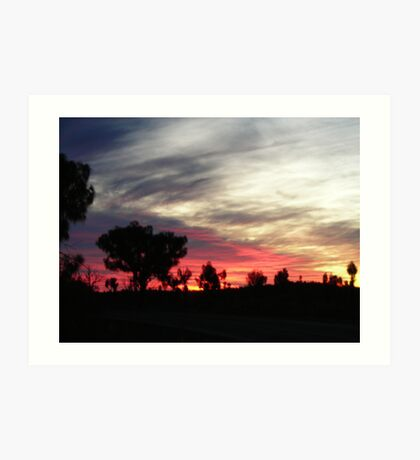 desert sundown in Yulara Art Print