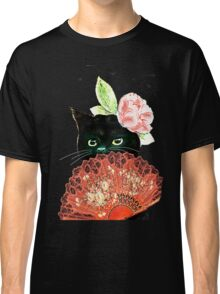 The Fan Cat Art White Background Classic T-Shirt