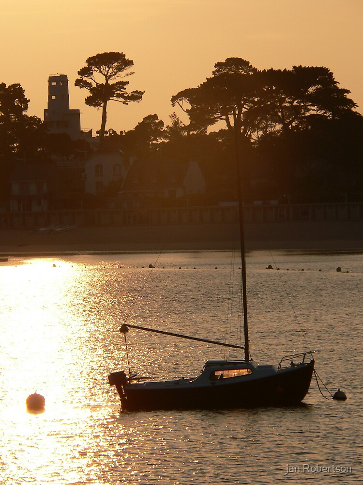 sun set in Brittany by jan Robertson
