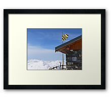 Hut with a view Framed Print