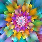 Pastel Rectangle Fan Flower by wolfepaw