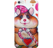 candy hamster iPhone Case/Skin