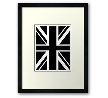 BRITISH, UNION JACK FLAG, UK, UNITED KINGDOM IN BLACK Framed Print