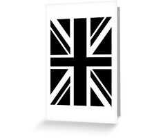 BRITISH, UNION JACK, FLAG, UK, UNITED KINGDOM, IN BLACK Greeting Card
