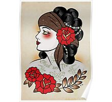 Flapper girl with tats  Poster