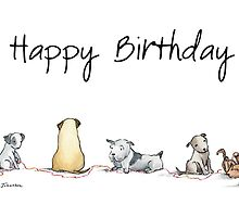 Birthday Dogs by Nicky Johnston