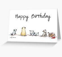 Birthday Dogs Greeting Card