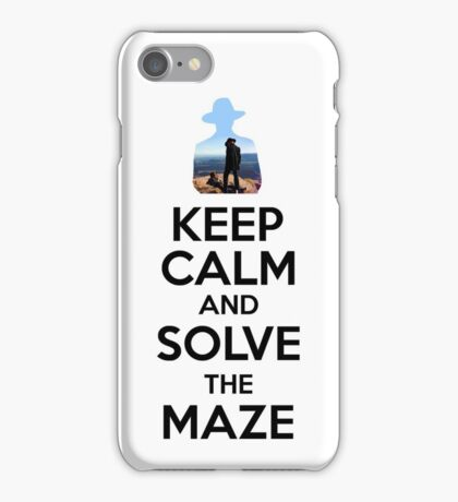 Keep Calm And Solve The Maze - Black Writing iPhone Case/Skin