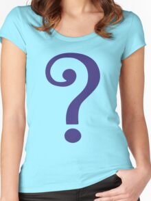 The Riddler  (Purple Question Mark) Women's Fitted Scoop T-Shirt