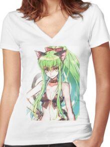 Code geass Women's Fitted V-Neck T-Shirt