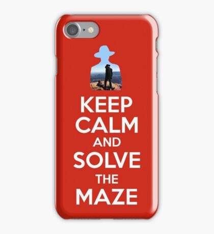 Keep Calm And Solve The Maze - White Writing iPhone Case/Skin
