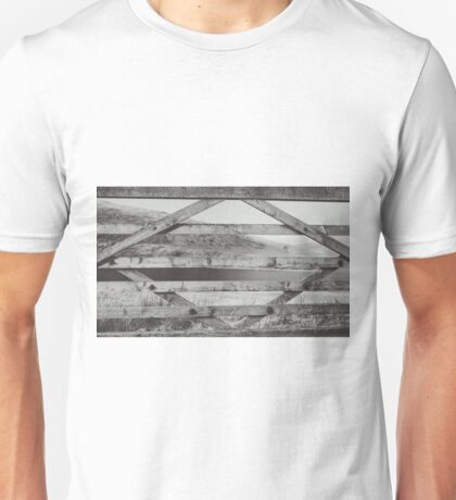 Through the Wooden Fence Unisex T-Shirt