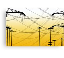 Yellow Lines #1 Canvas Print
