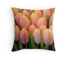 Tulips and more tulips Throw Pillow