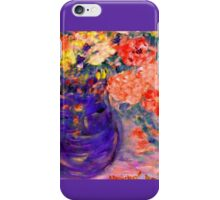 Romance Flowers in Purple Vase Artist Decor & Gifts iPhone Case/Skin