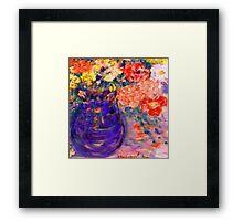Romance Flowers in Purple Vase Artist Decor & Gifts Framed Print