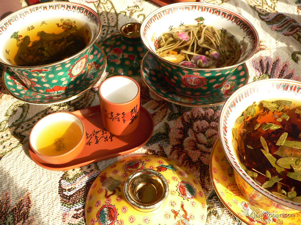 Chineese Tea by jan Robertson