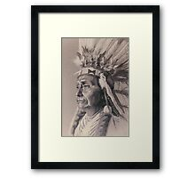 Red Cloud Framed Print
