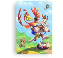 Bear and Bird Grand Adventure Canvas Print