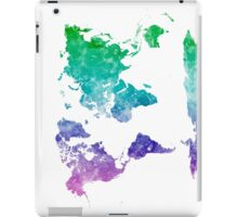 World map in watercolor multicolored iPad Case/Skin