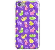 Whole Lotta Cat (Neon version) iPhone Case/Skin