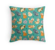 Whole Lotta Cat (Natural version) Throw Pillow
