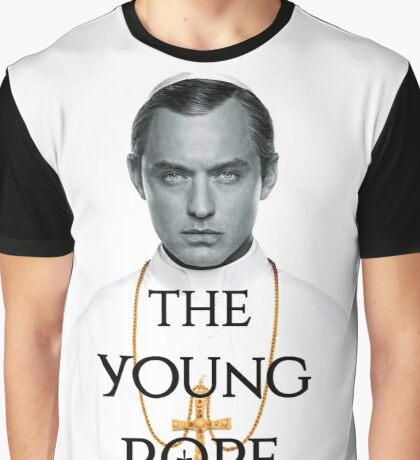 the YOUNG POPE Graphic T-Shirt