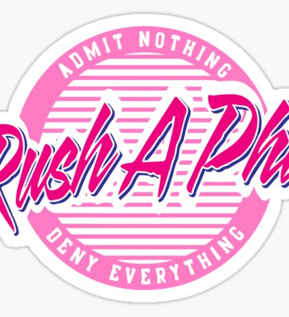 Old Row A Phi Sticker