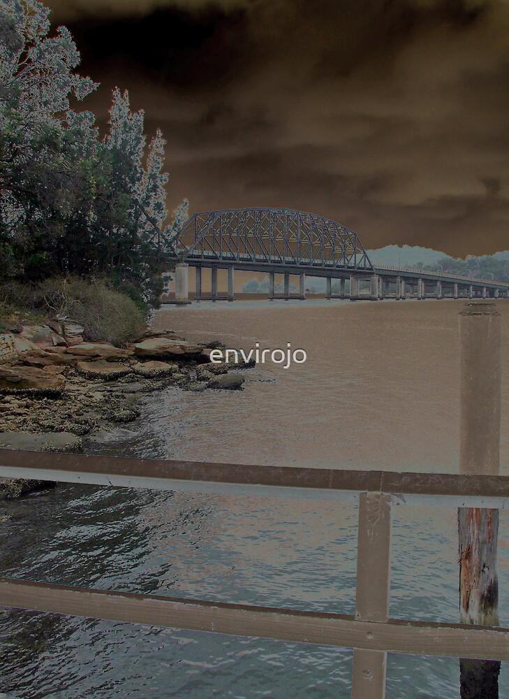 Bridge over Hawkesbury River by Joanne Byron