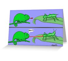 Chameleon Cartoon Greeting Card