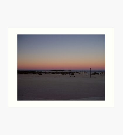 sunrise at Lancelin Art Print