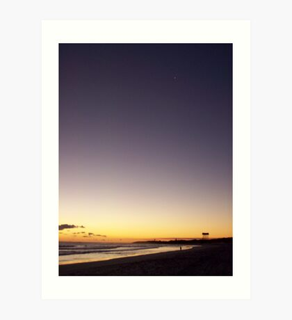 sunset at Lancelin2 Art Print
