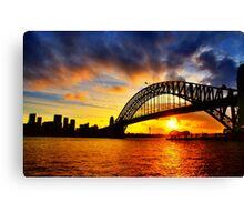 Sydney Harbour Bridge Sunset Canvas Print